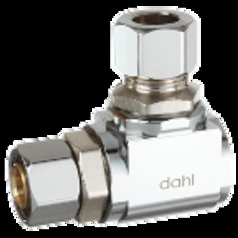 Dahl 610-41-31, 3/8 OD Fem. Comp X 3/8 OD Comp. Lead free.