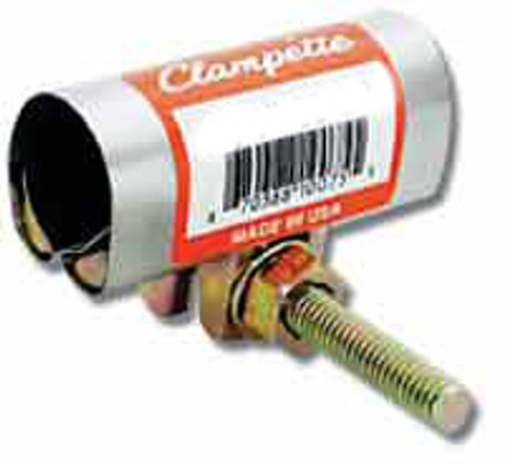 """Clampette 330-1053-CTS 3-1/2"""" CTS x 3"""" Wide Copper Tube Size Patch Clamp"""