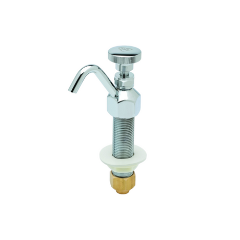 """T&S Brass B-2282 Dipperwell Faucet 1/2"""" NPSM Male Inlet"""