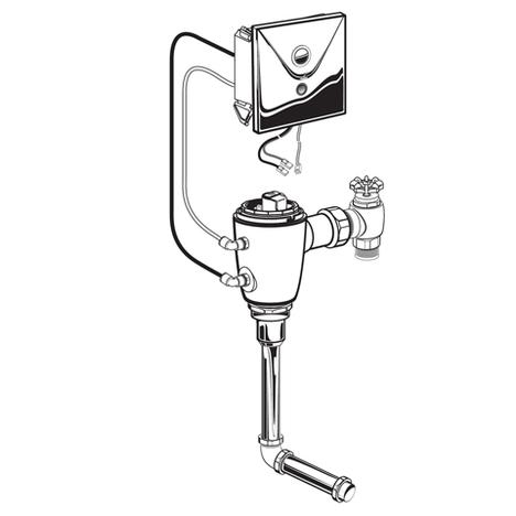 American Standard 606B.301.007 Selectronic Concealed Flush Valve Back Spud Urinal 0.125GPF