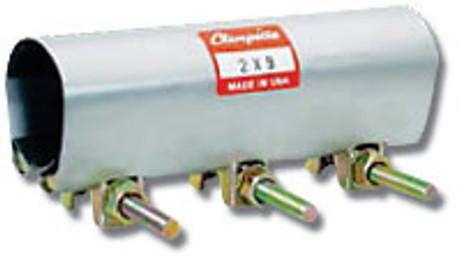 """Clampette 330-119 4"""" IPS x 9"""" Wide Iron pipe Size Patch Clamp"""
