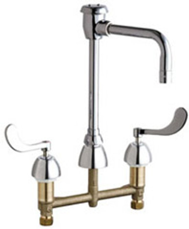 """Chicago Faucets 201-AG8BVBE3M317AB Concealed Manual Sink Faucet 8"""" Center"""
