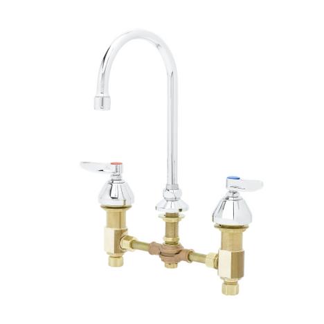 "T&S Brass B-0850 Medical Faucet Concealed Body 8"" Deck Swivel/Rigid Gooseneck"