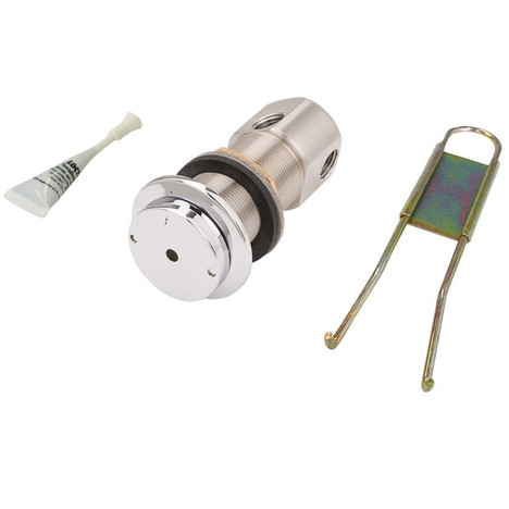 Haws 5874PBF Stainless Steel Flanged Push Button W/Valve