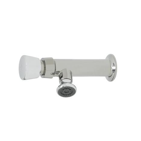 T&S Brass B-0800 Metering Faucet Single Temperature 1/2' NPT Female Inlet Rosespray
