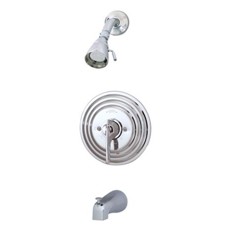 Symmons C-96-2-X Temptrol Commercial Tub/Shower System Chrome