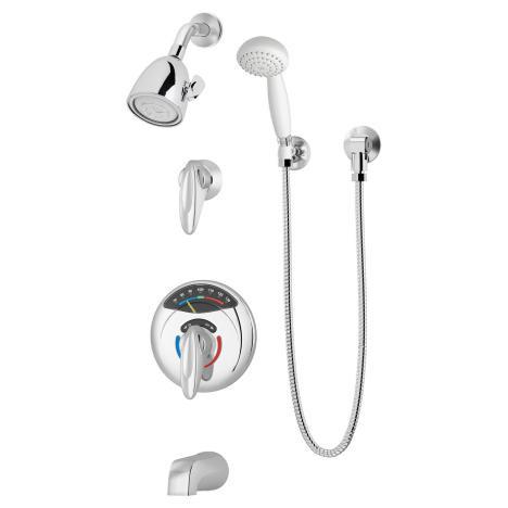 Symmons 1-317VT-FS Visu-Temp Tub/Shower/Hand Shower System