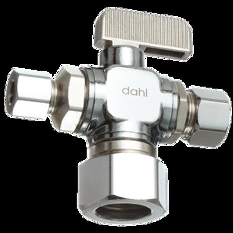 Dahl 611-33-31-30, 5/8 OD Comp X 3/8 OD Comp X 1/4 OD Comp. Lead free.