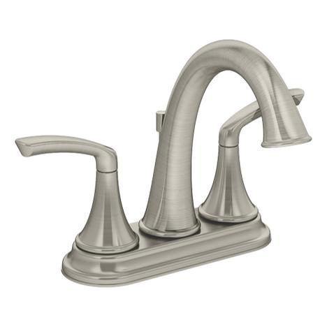 Symmons SLC-5512-STN-1.5 ELM Two Handle Centerset Lavatory Faucet Satin Nickel
