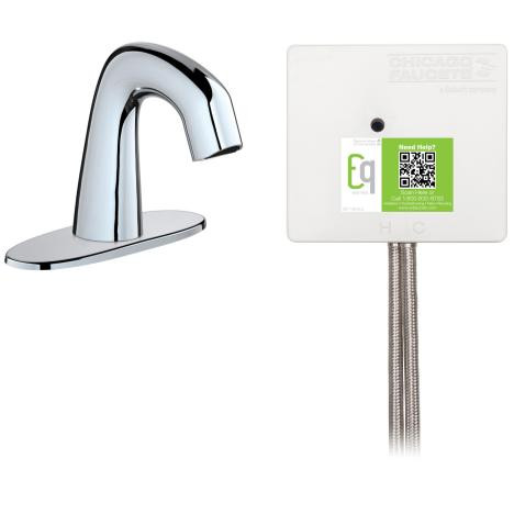 Chicago Faucets EQ-A12C-23ABCP EQ Curved Series Lavatory Sink Faucet W/Infrared Detection