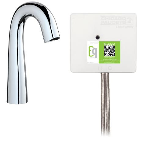 Chicago Faucets EQ-C11A-12ABCP EQ High Arc Series Lavatory Sink Faucet W/Infrared Detection