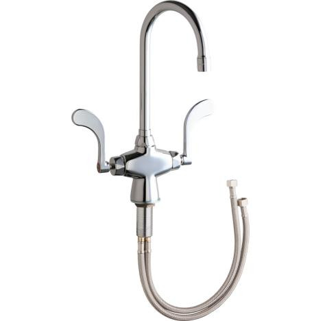 Chicago Faucets 50-E35-317XKABCP Hot & Cold Water Mixing Sink Faucet