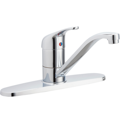 Chicago Faucets 431-MPABCP Single Lever Hot & Cold Water Mixing Sink Faucet