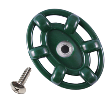Arrowhead PK1250 Green Wheel Handle and Self-Tapping Stainless Steel Screw