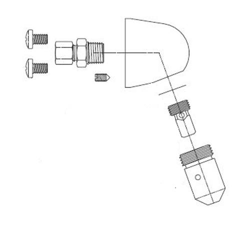 Acorn 1244-010-002 Penal Showerhead Assembly-SSV