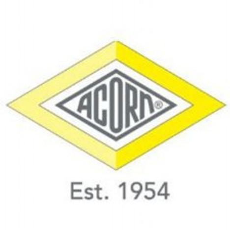 "Acorn 1895-452-001 3/8"" O.D. Nylon Nut w/ Plastic Grip (10 Pack)"