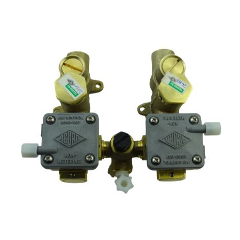 Acorn 2589-050-001 Hot & Cold Penal Brass Non-Metering Valve Assembly, 0.5 GPM
