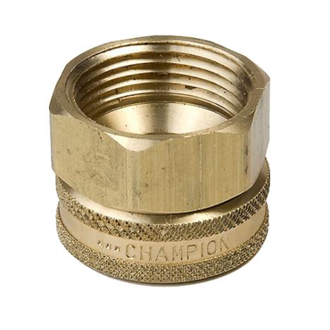 "Champion 12F Brass Swivel Hose Fitting 3/4"" FHT x 3/4"" FIP"