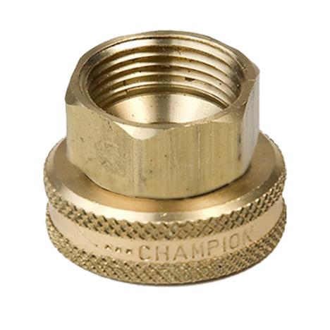 "Champion 13F Brass Swivel Hose Fitting 3/4"" FHT x 1/2"" FIP"