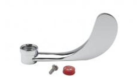 """T&S Brass B-WH4H 4"""" Wrist-Action Handle Hot Index & Screw"""