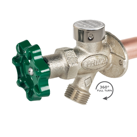 """Prier C-144T04 4"""" Anti-Siphon Wall Hydrant 3/4"""" MPT X 1/2"""" FPT"""
