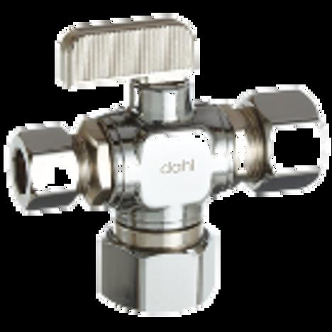 Dahl 611-33-31-32, 5/8 OD Comp X 3/8 OD Comp X 1/2 OD Comp. Lead free.