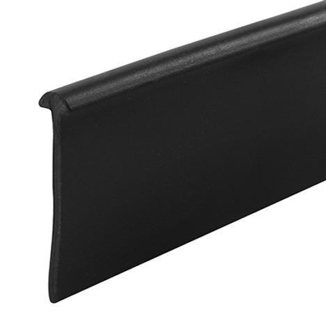 Shower Door Bottom Seal Round BLACK M 6230