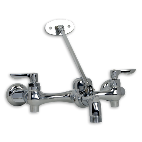 American Standard 8354.112.002 Wall Mount Service Sink Faucet with Top Brace