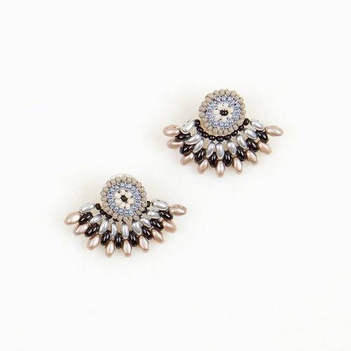 JEA337BN Duo Post Earring w/ Jacket