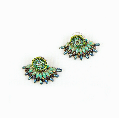 JEA337JD Duo Post Earring w/ Jacket