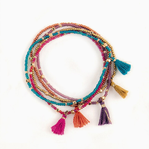 JBR163MM Tassel Bracelet (set of 5)