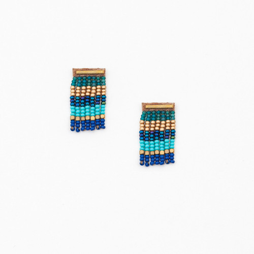 JEA521TQ Bar Post Earring w/Fringe