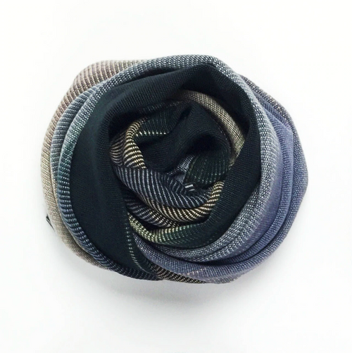 AS33GY Handwoven Bamboo Silky Weave Infinity Scarf- Grey