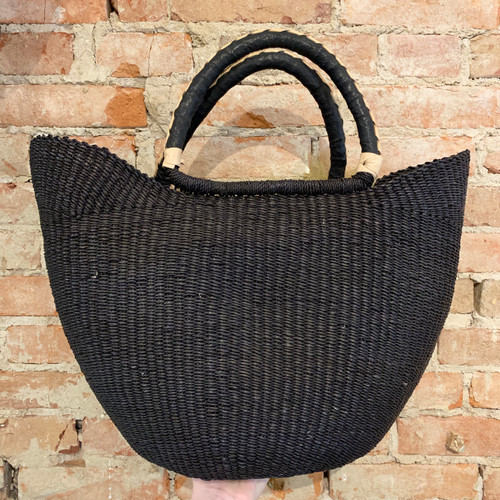 RUGBY US03 Black Straw Tote