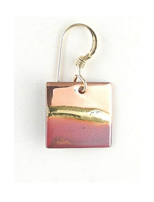 """ns86 copper square earrings 3/8"""""""