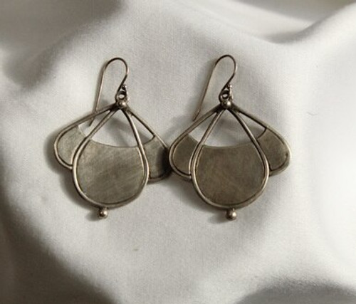 Triple Teardrop Silver Dangle Earrings