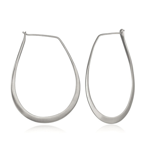 ES30-HOOP SILVER HOOP EARRINGS