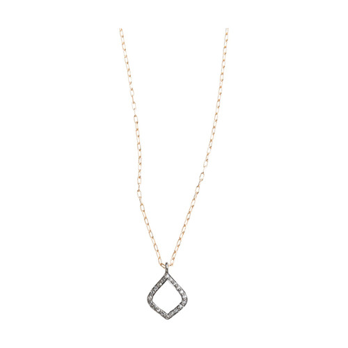 20124 Arabesque pave set diamond pendant necklace