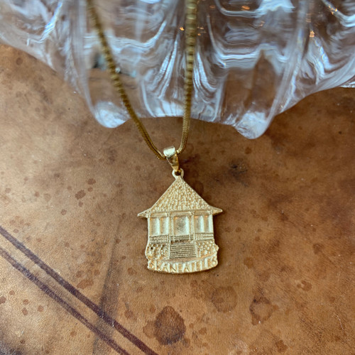 Large Skaneateles Gazebo Necklace- 14k Gold
