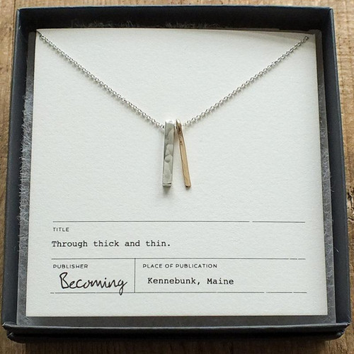 MEMTT Through Thick and Thin Necklace