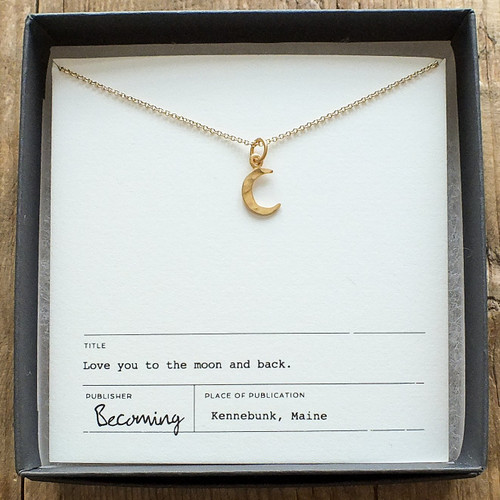 MEMMN Love You to the Moon Necklace