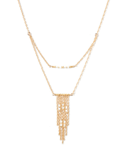 nlei Lei gf freshwater pearl dbl strand necklace