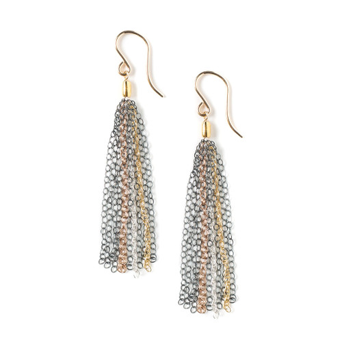 eclx Claire ox, oxss/gf/rgf/ss fringe earrings