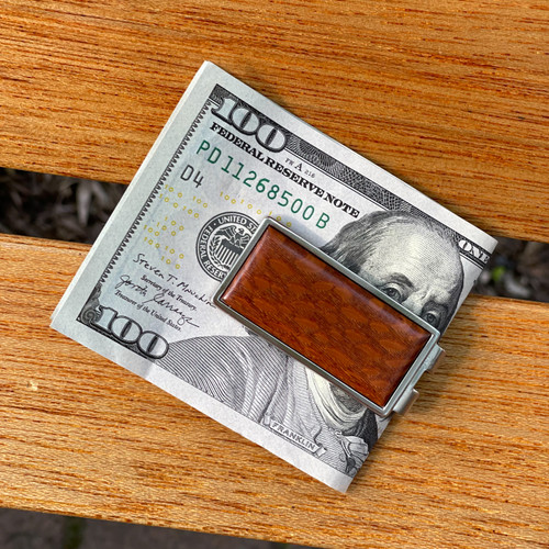 Money Clip- Solid- Lacewood