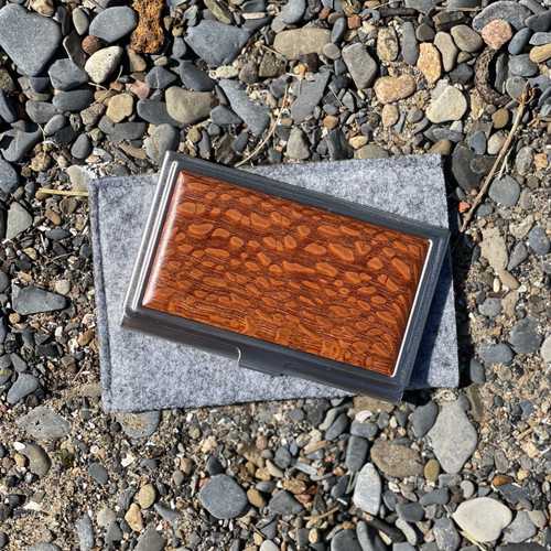 Business Card Case- Solid- Lacewood