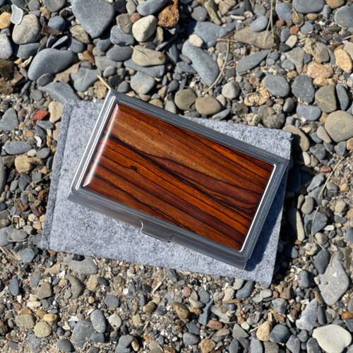 Business Card Case- Solid- Cocobolo