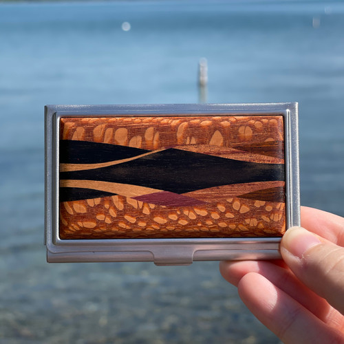 Business Card Case- Inlay- Lacewood