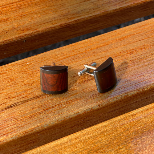 Cufflinks- Domed- Cocobolo