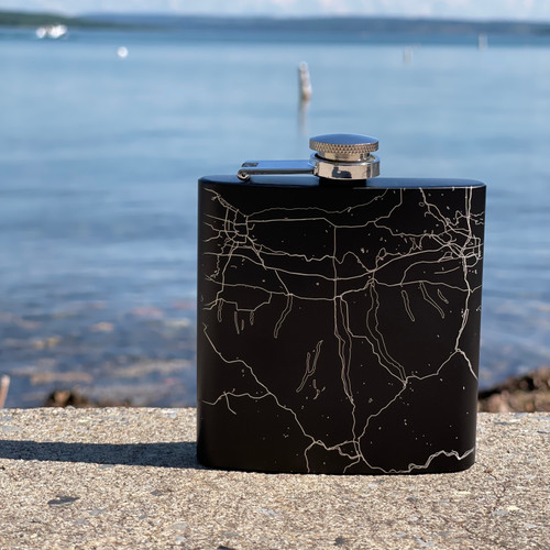 Finger Lakes Map Flask