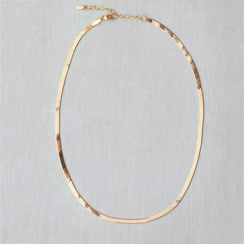 Herringbone Chain Necklace- Gold filled